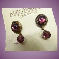 Gorgeous Angela Rustici AMR Design Earrings On Original Card