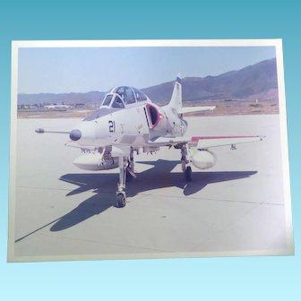 Military Estate Vintage 8x10 Photo - Skyhawk Naval Missle Center Point Mugu CA