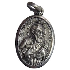 Vintage Saint Peter / Saint Peter's Church Religious Medal Marked Italy