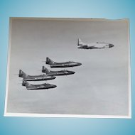 Authentic Vintage Military Photo 1950s Blue Angels F9F-5s In Flight