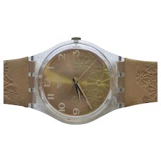 Swatch Wristwatch - Fiori D'Amore GK381 - Flower Face Embossed Band