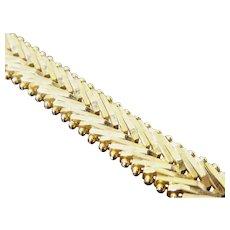 Italian Gold Over Sterling Silver Riccio Bracelet Signed Milor