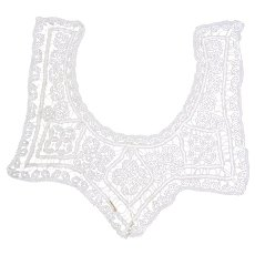 Beautiful Antique Lace Trim - Dress Embellishment - Frontpiece Insert or Collar