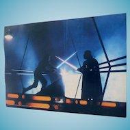 1980 Empire Strikes Back Darth & Luke Photo by Geo Whitear Color 8X11 Star Wars