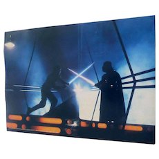 1980 Empire Strikes Back Darth & Luke Photo by Geo Whitear Color 8X11 Star Wars