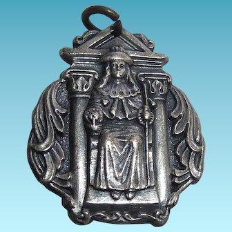 Rare Catholic Religious Medal Holy Infant Of Atocha Signed Metal Arts Co Rochester NY