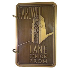 Freddy Martin Autograph 1937 Lane Tech Farewell Prom Dance Card Aragon Ballroom