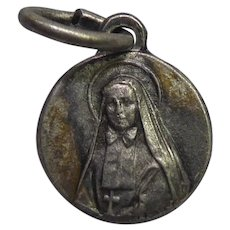 Small Vintage Saint F.X. Cabrini Religious Medal or Charm - Patron Saint of Immigrants