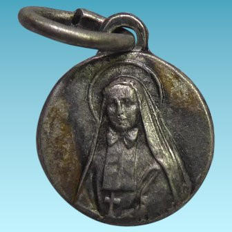 Small Vintage Saint F.X. Cabrini Religious Medal or Charm - Patron Saint of Immigrants