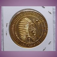 1968 Mardi Gras Doubloon Token Coin Old Reliable Pleasure Club Chief Choctaw