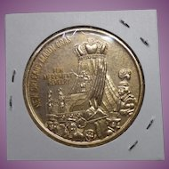 1968 Mardi Gras Doubloon Coin Token - Carnival Social Club Whoopee In The Teepee