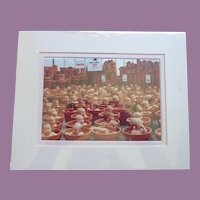 Adorable Anne Geddes 1993 Lithograph 123 Pots - Babies In Flower Pots Unopened Original Package!