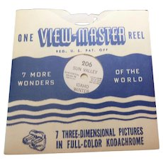 Vintage View Master Viewmaster Reel 206 Sun Valley Idaho Winter