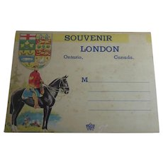 Vintage Souvenir Folder - London Ontario Canada by Peco Circa 1945
