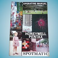 Instruction Booklet Operating Manual For Honeywell Pentax Spotmatic Camera