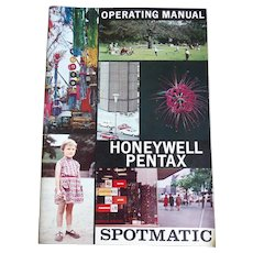 Instruction Booklet Operating Manual For Honeywell Pentax Spotmatic Camera