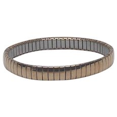 Signed Milor Expandable Link Bracelet Stainless Steel