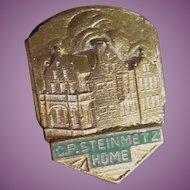Vintage CP Steinmetz Home Pin Green Enamel - Famous Electrical Inventor