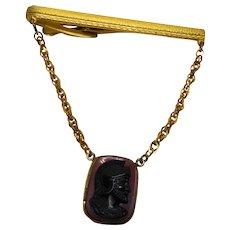 Vintage Signed Hickok Roman Soldier Tie Bar Clip