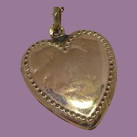 Antique Beaded Heart Pendant on a Gold Filled Chain