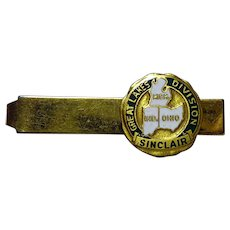 Vintage Enamel Sinclair Oil Gas Tie Clip - Great Lakes Division Michigan Illinois Indiana