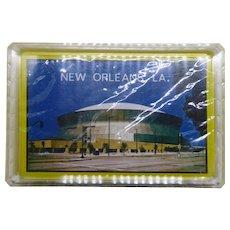 Vintage Sealed New Orleans Superdome Sealed Playing Cards - Original Case
