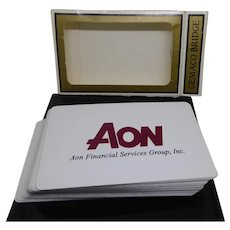 Vintage Playing Cards - Aon Financial Services Advertising Cards Original Box