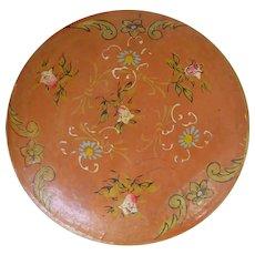 Vintage Japanese Lacquer Paper Mache Box Signed CK or KC Japan Floral Design