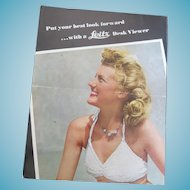 Vintage 1950s Leica Leitz Desk Viewer Photography Advertising Brochure