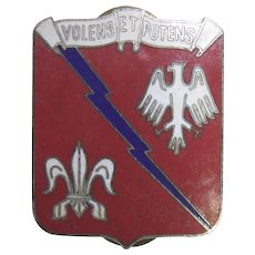 Vintage Military Insignia - 555th Combat Engineer Group DUI - Volens et Potens
