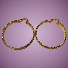 Big Bold Signed Vintage Hoop Earrings LH Segal California Lewis Segal - Gorgeous