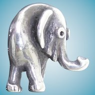 Adorable Sterling Silver Baby Elephant Pendant