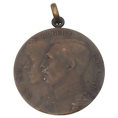 WWI 1914 Inspirational Belgian Propaganda Medal Defiance In German Occupation