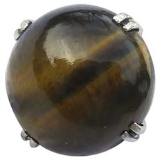 Vintage Tigers Eye Stone Tie Pin