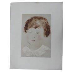 "Vintage Picasso Print Head Of A Boy By Penn Prints New York 18"" x 14"""