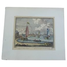 Fine Art Print of Berlin Aen De Spree From Copper Engraving by P Schenk 1702