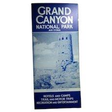 1940s Fred Harvey Grand Canyon Lodging & Trips Brochure National Park Arizona