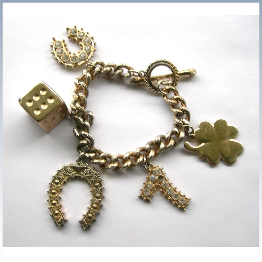 Vintage lucky charm bracelet perfect casino wear the lantern click to expand biocorpaavc Image collections