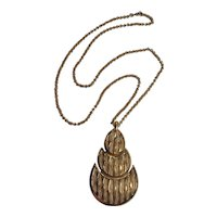 Trifari pendant necklace Modern design