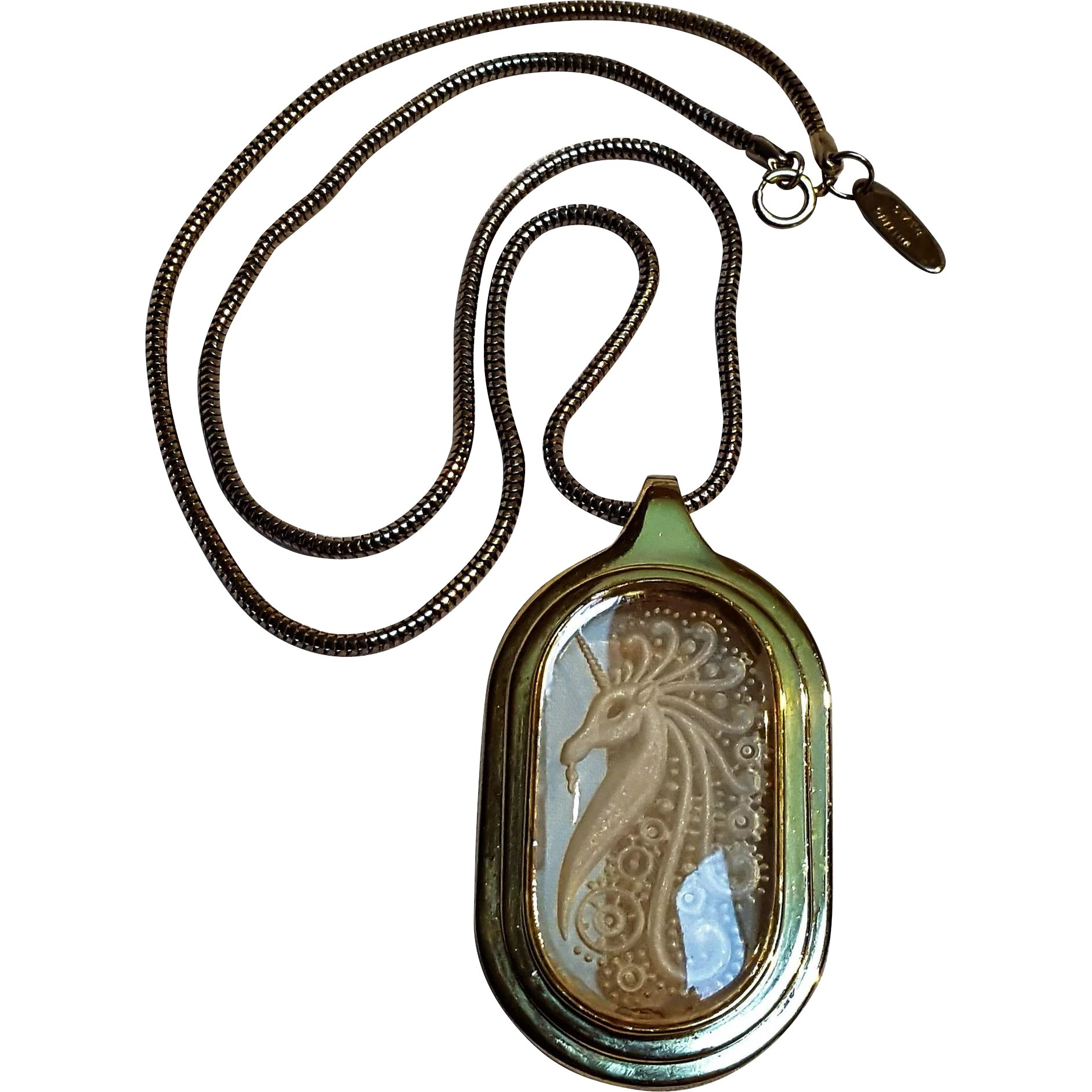 s intaglio glass jewelry rubina stone pendant blue adornments