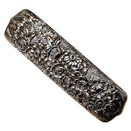 Tiffany & Co sterling silver clothes brush floral repousse 8255