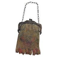 Whiting & Davis Child's  dresden mesh bag fringe