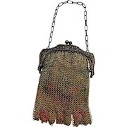 Whiting & Davis Child's  dresden mesh bag fringe
