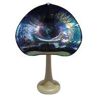 Stuart Abelman Jack-in-the-Pulpit opalescent Art glass vase