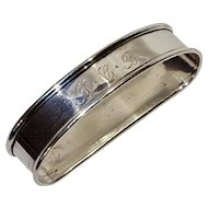 Wallace sterling silver napkin ring 216 monogram