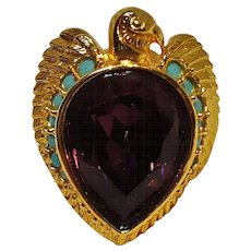 Elizabeth Taylor Avon falcon ring Egyptian revival - Red Tag Sale Item