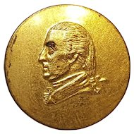 1876 Marquis de Lafayette presentation button Washington bust