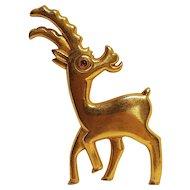 VanS Authentics antelope pin pre WW2 Aurhentics signature