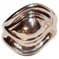 Taxco sterling silver cuff bracelet Modernist TV-53