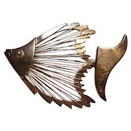 Taxco sterling silver angel fish pin